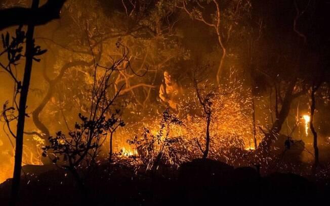Maior parte do incêndio na Chapada dos Veadeiros é controlado