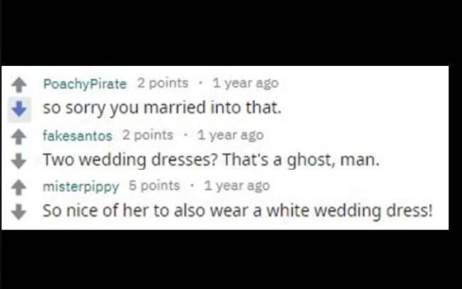 Os comentários no post da noiva deram apoio e criticaram a sogra