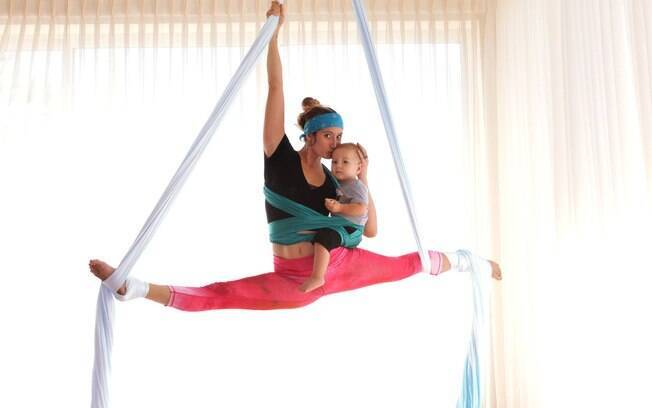 Para a mãe, além de ser uma forma de manter o corpo e a mente saudáveis, o esporte a ajuda a ter maior contato com o filho