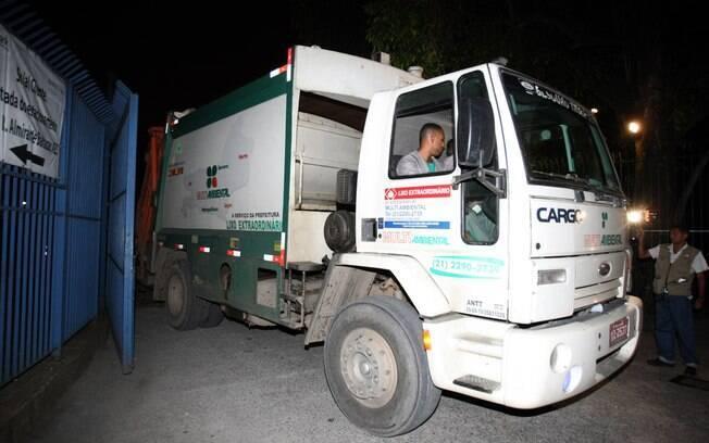 Ilustração: caminhão de lixo