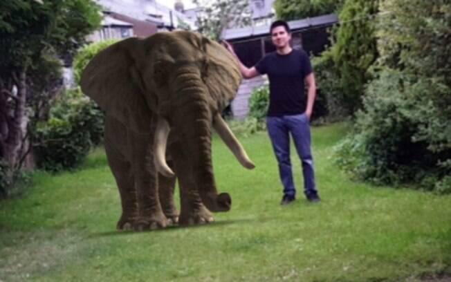 Além da realidade aumentada, aplicativo disponibiliza a posição geográfica, tamanho e hábitos dos animais