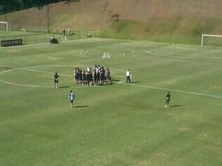 San Lorenzo usou dependências do CT alvinegro para treinar