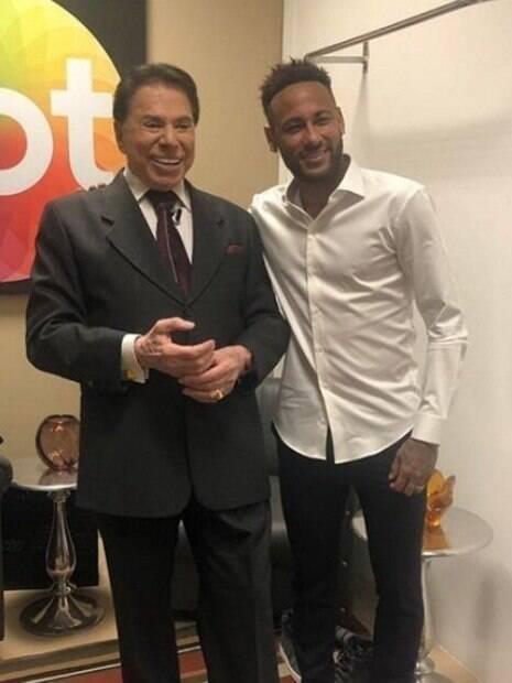 Neymar e Silvio Santos no SBT