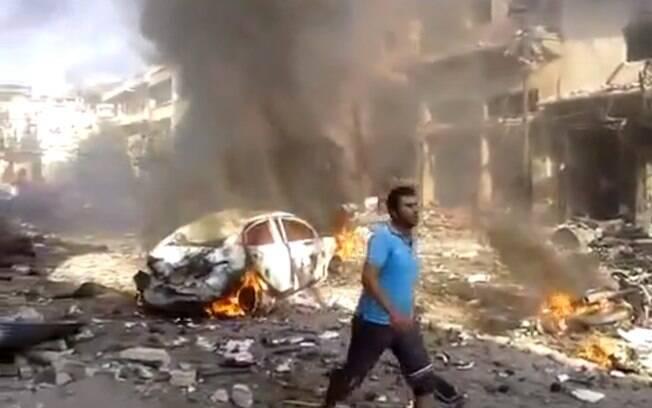 Carros-bomba são normalmente utilizados por grupos radicais em regiões de conflito urbano