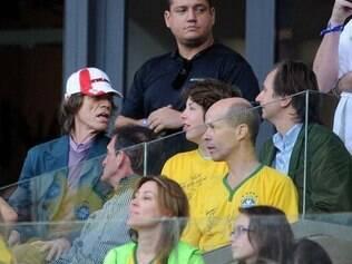 Cantor foi ver a partida com o filho brasileiro no Mineirão