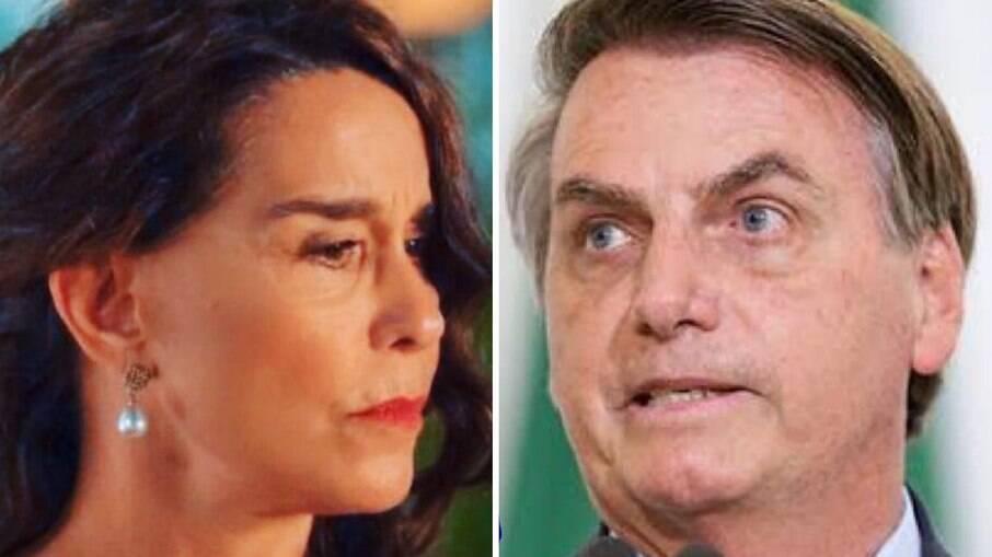 Lucélia Santos e Jair Bolsonaro