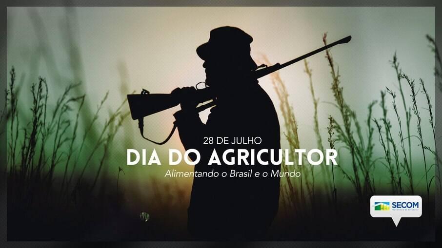 Homem com rifle na mão é usado para representar um agricultor nos canais do governo federal