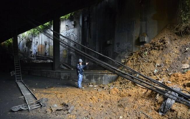 Túnel Acústico Rafael Mascarenhas desabou no dia 17 de maio