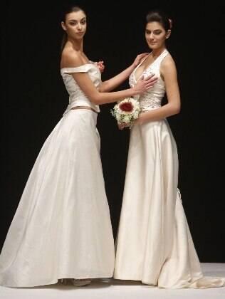 Marca italiana Celli criou uma coleção de vestidos e ternos de casamento para gays e lésbicas