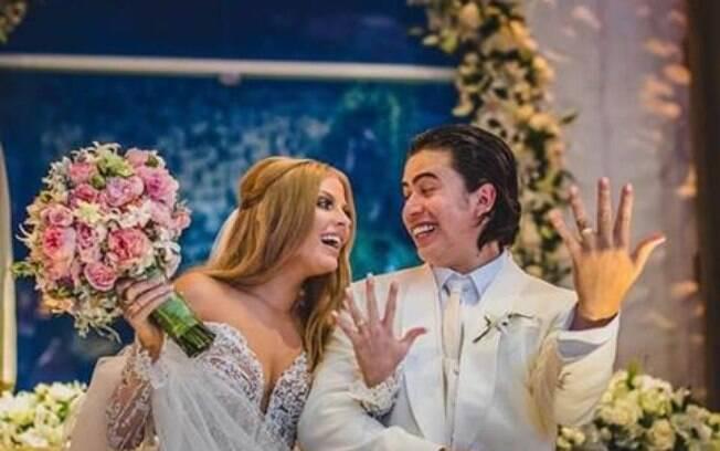 Whindersson Nunes e Luísa Sonza mostram imagens inéditas do casamento do ano no
