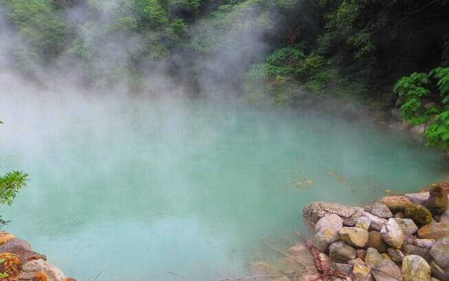 A área geotermal de Beitou foi um dos lugares que mais impressionou o viajante