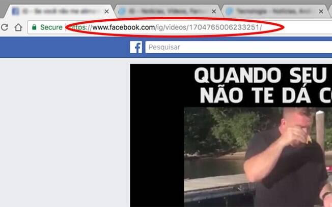 Abra o vídeo que você deseja baixar no Facebook e copie o URL da página.