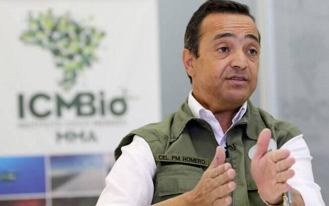 O coronel Homero de Giorge Cerqueira foi exonerado da presidência do ICMBio.