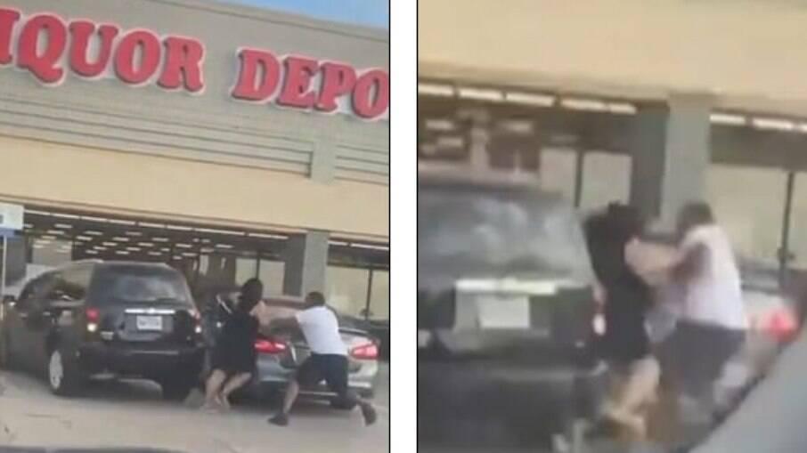 Até a polícia chegar, a mulher bateu em quatro carros diferentes