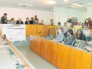 Audiência.   Gasoduto foi tema de debate ontem na Comissão de Assuntos Municipais da Assembleia