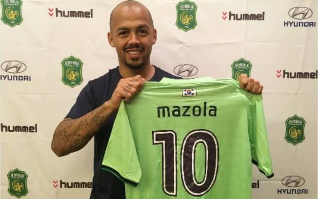 Atacante Mazola acertou sua transferência ao Jeonbuk, clube da Coreia do Sul