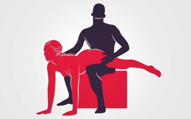 posição em que ele está sentado e ela apoiada no chão