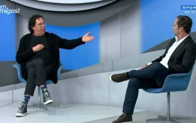 Casagrande e Caio Ribeiro discutiram em programa do SporTV
