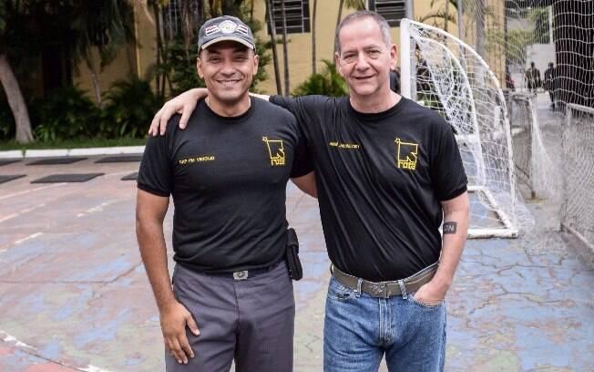 Capitão PM Vergílio, Comandante da Terceira Companhia da ROTA e responsável pela equipe de patrulha desta matéria com o autor