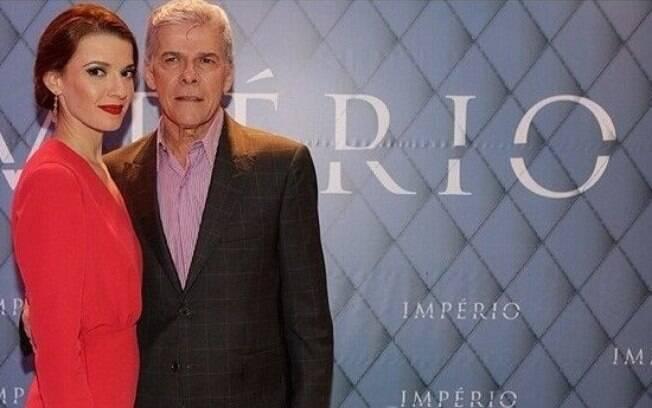 A atriz Júlia Fajardo e seu pai, José Mayer fazem parte do elenco da novela