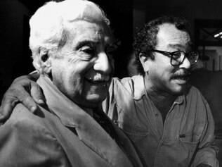 Ubaldo com Jorge Amado, por quem tinha verdadeira adoração