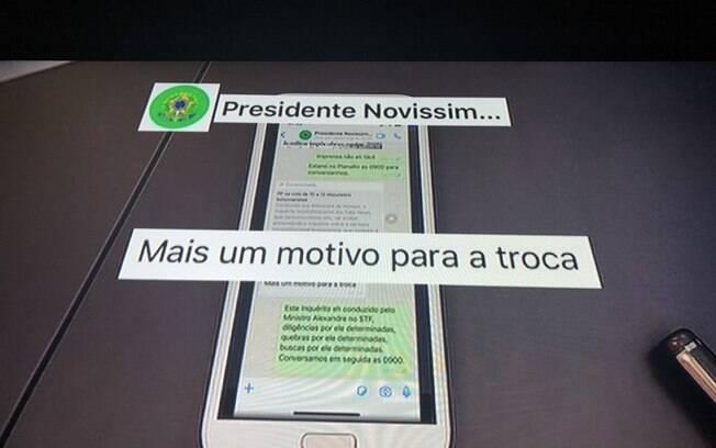 Print do Moro divulgado por ele no dia 24 de abril