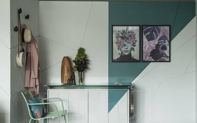 A parede de Drywall também pode ser estilizada e mudar um ambiente