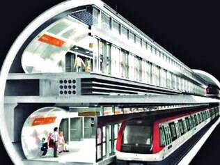 Subterrânea. Projeto prevê dois andares para túnel por onde passará a linha 3 (Savassi/Lagoinha)