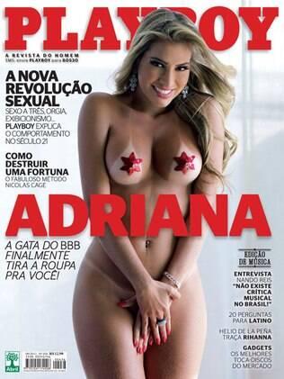 Adriana Sant'anna mostra suas curvas na capa de setembro da Playboy