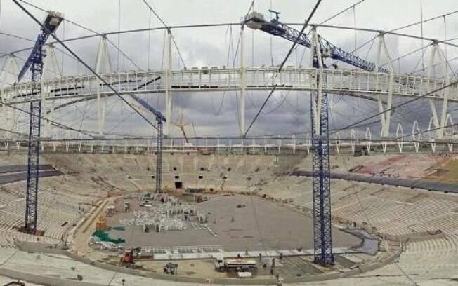 Maracanã tem 87% de suas obras concluídas