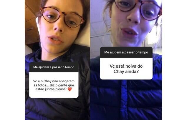 Laura Neiva responde perguntas em seu Instagram e fala sobre fim de namoro com Chay