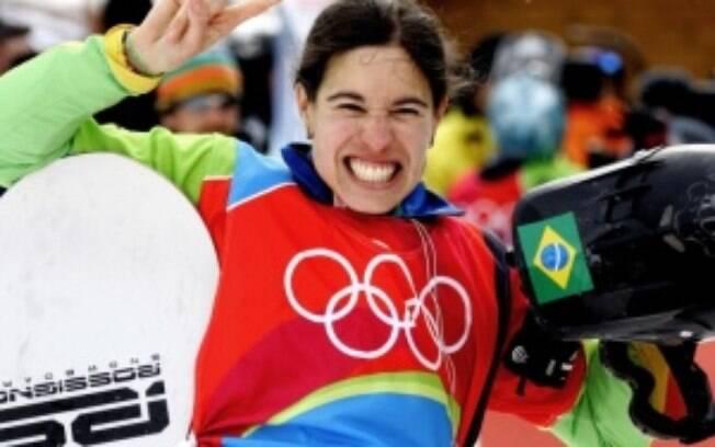 Isabel é dona da melhor marca dos Brasil nas  Olimpíadas de Inverno: nono lugar em Turim 2006 no  snowboard