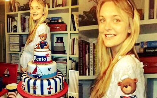 Carol Trentini grávida de Bento