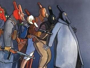 Ilustração que está na capa da nova edição de 'O Mundo de Edena', do francês Moebius