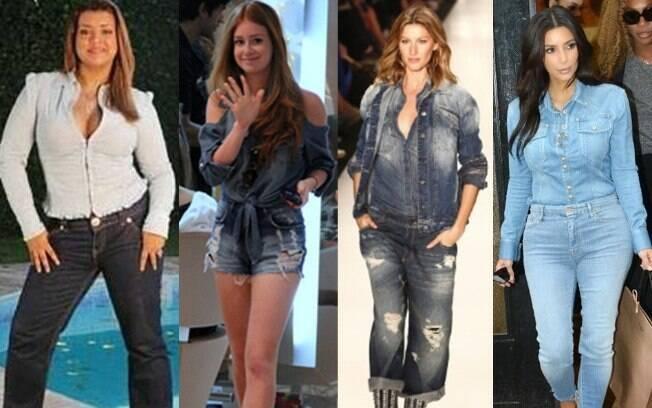 O look Total jeans já faz parte das escolhas das famosas