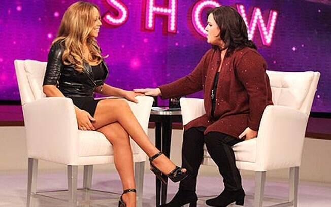 Mariah Carey durante a entrevista
