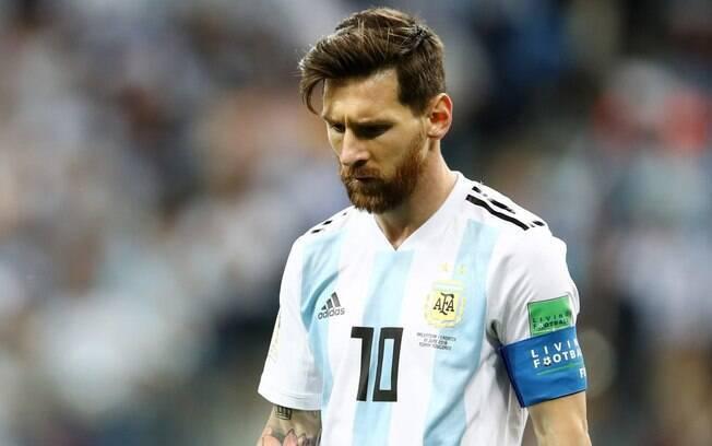 Lionel Messi sentiu lesão no púbis na derrota da Argentina para a Venezuela em amistoso