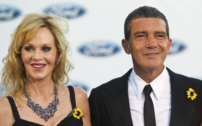 Antonio Banderas com a atual esposa Melanie Griffith