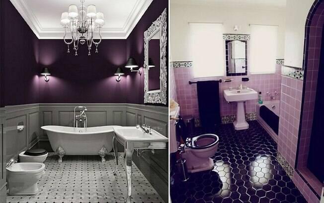 Em banheiros, o ideal é contrastar o tom com cores claras e neutras, como branco, cinza e creme