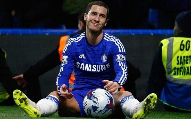 O belga Eden Hazard ficou de fora da seleção da Premier Leagur