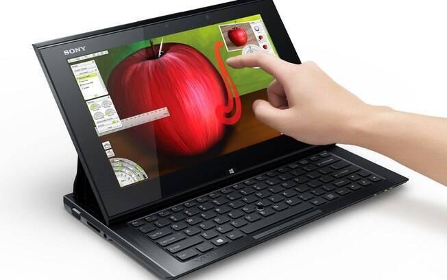 Novo híbrido de tablet e notebook da Sony tem teclado deslizante