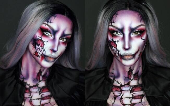 Ellie afirma que a maquiagem artística é uma 'forma de transformar a si mesmo' e ama o trabalho que faz no Halloween