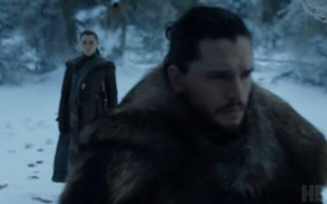 Jon e Arya se encontrarão pela primeira vez desde a primeira temporada