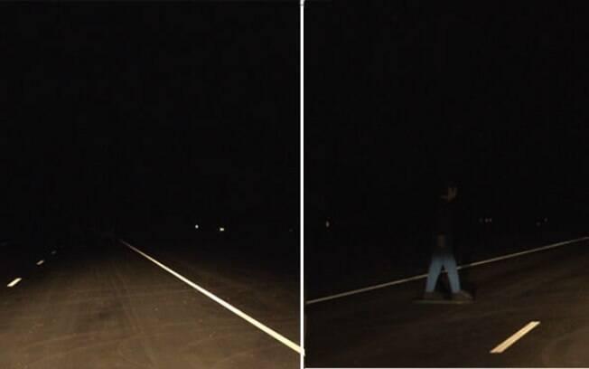 Do lado esquerdo, os faróis do Mercedes-Benz Classe C. Do lado direito, os do Honda Accord. Ambos usam lâmpadas incandescentes.