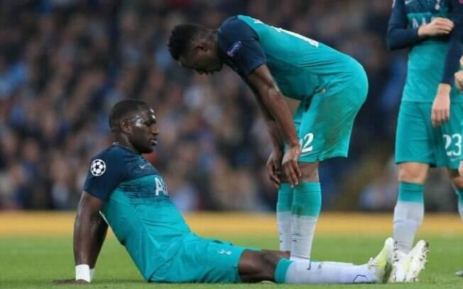 Sissoko teve lesão na virilha em jogo contra o Manchester City e será desfalque no Tottenham para o jogo contra o Ajax