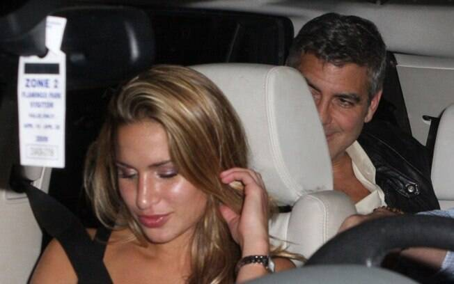 George Clooney e Lucy Wolvert