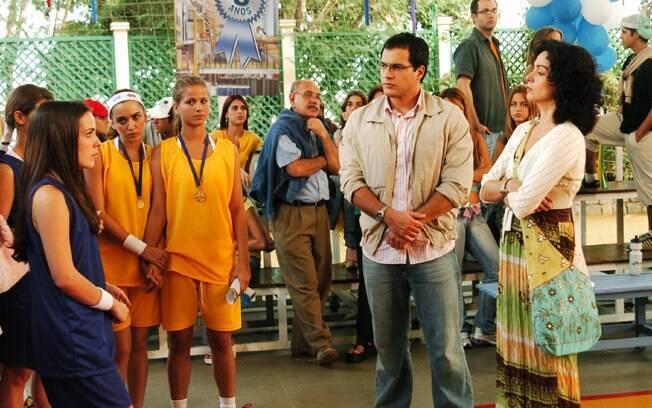 Daniel Boaventura e Cláudia Ohana na temporada 2006 de
