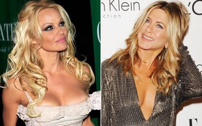 Dois momentos: os seios fatos de Pamela Anderson e a naturalidade de Jennifer Aniston