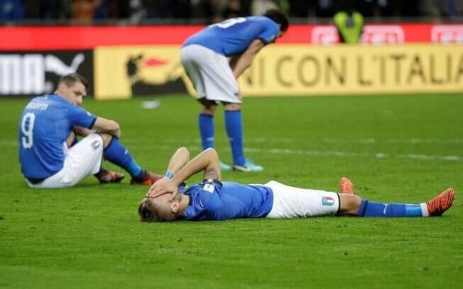 Seleção italiana só empatou com a Suécia em casa e está fora da Copa do Mundo de 2018