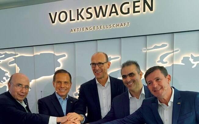 Cúpula do governo paulista se encontrou com executivos da Volkswagen